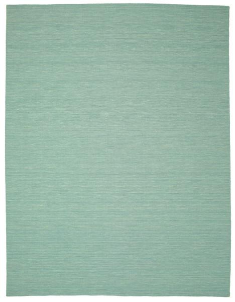Kilim Loom - Mint Zielony Dywan 300X400 Nowoczesny Tkany Ręcznie Pastel Zielony/Turkusowy Niebieski Duży (Wełna, Indie)