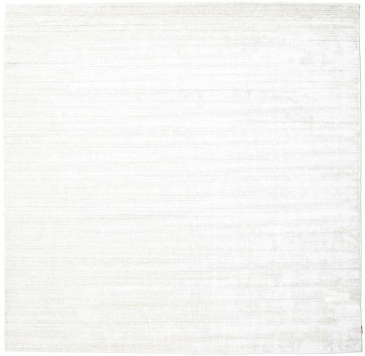 Bamboo Jedwab Loom - Jasny Natural Dywan 250X250 Nowoczesny Kwadratowy Beżowy/Biały/Creme Duży ( Indie)