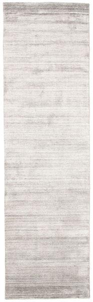 Bamboo Jedwab Loom - Warm Szary Dywan 80X300 Nowoczesny Chodnik Jasnoszary/Biały/Creme ( Indie)