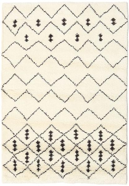Berber Indie - Off-White/Czarny Dywan 120X180 Nowoczesny Tkany Ręcznie Biały/Creme/Beżowy (Wełna, Indie)