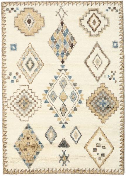 Berber Indie - Kość Słoniowa/Beżowy Dywan 160X230 Nowoczesny Tkany Ręcznie Beżowy/Żółty (Wełna, Indie)