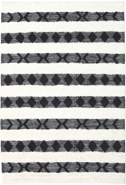 Shaula - Czarny/White Dywan 200X300 Nowoczesny Tkany Ręcznie Beżowy/Biały/Creme (Wełna, Indie)