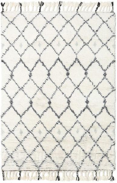 Sauda - Natural Szary Dywan 160X230 Nowoczesny Tkany Ręcznie Beżowy/Biały/Creme (Wełna, Indie)