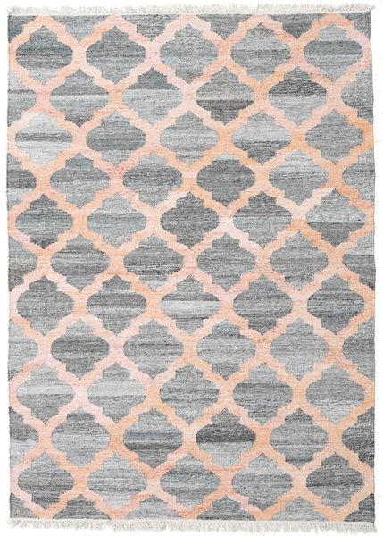 Dywan Zewnętrzny Kathi - Szary/Coral Dywan 170X240 Nowoczesny Tkany Ręcznie Jasnoszary/Jasnoróżowy ( Indie)
