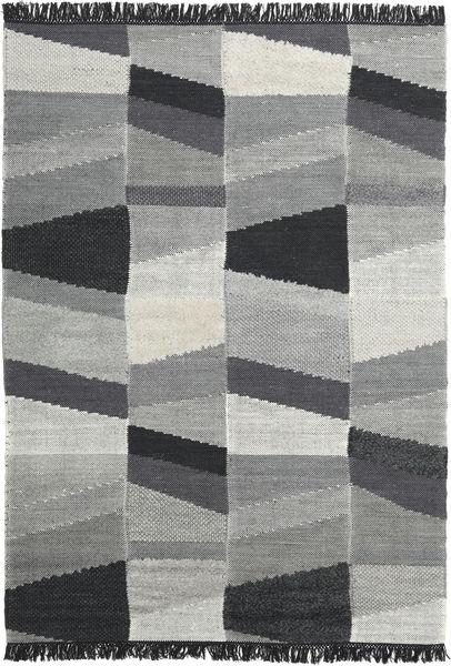 Viola - Szary/Czarny Dywan 160X230 Nowoczesny Tkany Ręcznie Ciemnoszary/Turkusowy Niebieski (Wełna, Indie)