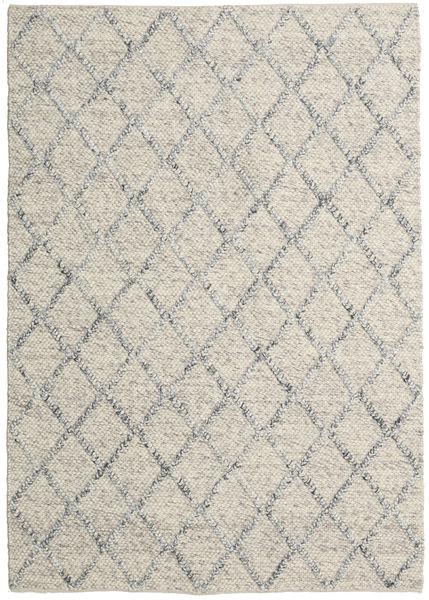 Rut - Srebrny/Szary Melange Dywan 160X230 Nowoczesny Tkany Ręcznie Jasnoszary/Ciemnobeżowy (Wełna, Indie)