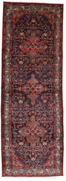Asadabad Dywan 112X320 Orientalny Tkany Ręcznie Chodnik Ciemnoczerwony/Ciemnobrązowy (Wełna, Persja/Iran)