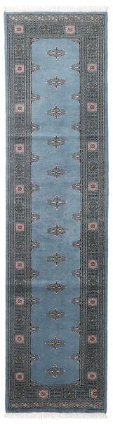Pakistański Bucharski 2Ply Dywan 78X304 Orientalny Tkany Ręcznie Chodnik Niebieski/Ciemnoniebieski/Ciemnoszary (Wełna, Pakistan)