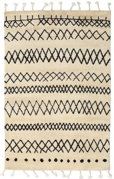 Beni Berber Dywan 240X300 Nowoczesny Tkany Ręcznie Beżowy/Ciemnoszary (Wełna, Indie)