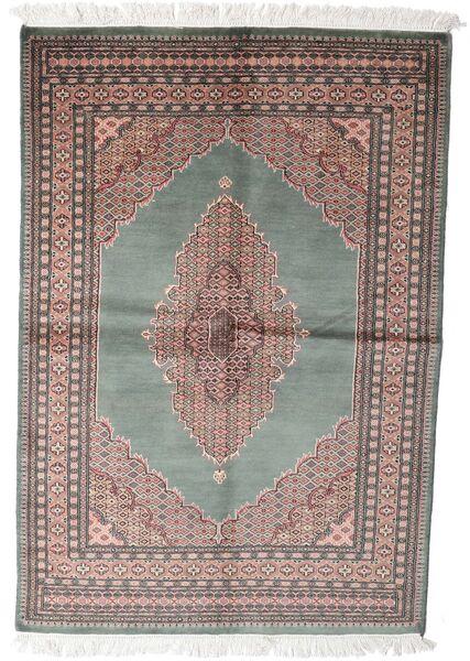 Pakistański Bucharski 3Ply Dywan 143X208 Orientalny Tkany Ręcznie Ciemnoszary/Biały/Creme (Wełna, Pakistan)