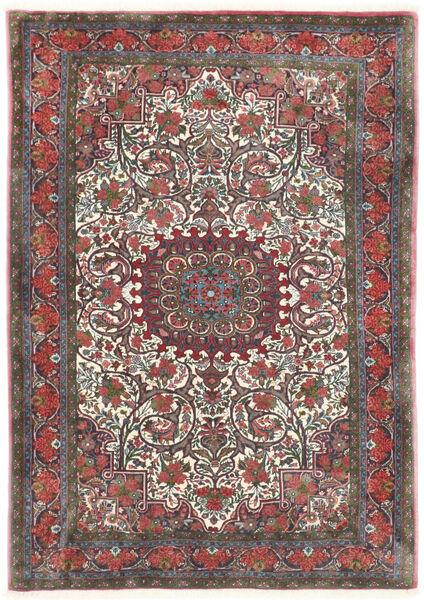 Bidżar Takab/Bukan Dywan 113X153 Orientalny Tkany Ręcznie Ciemnoszary/Ciemnoczerwony (Wełna, Persja/Iran)