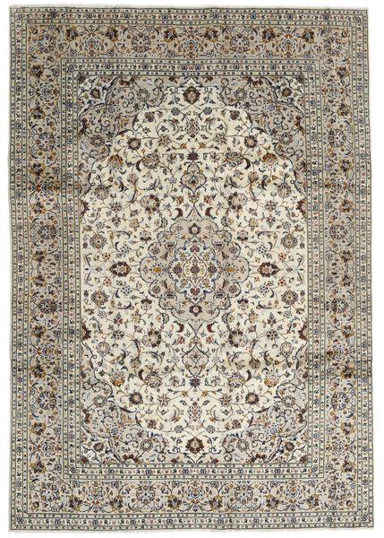 Keszan Dywan 246X352 Orientalny Tkany Ręcznie Jasnoszary/Ciemnoszary (Wełna, Persja/Iran)