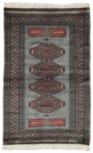 Pakistański Bucharski 3Ply Dywan 97X152 Orientalny Tkany Ręcznie Czarny/Ciemnoszary (Wełna, Pakistan)
