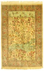 Kom Jedwab Obrazkowy Dywan 131X198 Orientalny Tkany Ręcznie (Jedwab, Persja/Iran)
