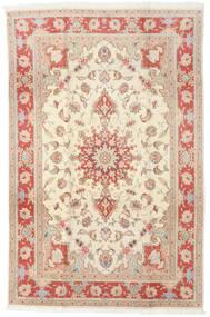 Tebriz 50 Raj Dywan 190X293 Orientalny Tkany Ręcznie Beżowy/Jasnobrązowy (Wełna/Jedwab, Persja/Iran)
