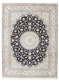 Nain 6La Sygnowany: Habibian Dywan 205X271 Orientalny Tkany Ręcznie (Wełna/Jedwab, Persja/Iran)