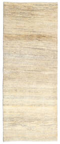 Gabbeh (Persja) Dywan 80X205 Nowoczesny Tkany Ręcznie Chodnik Beżowy/Ciemnobeżowy (Wełna, Persja/Iran)