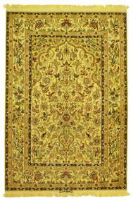 Isfahan Jedwab W Osnowie Obrazkowy Sygnowany: Nasr Dywan 142X210 Orientalny Tkany Ręcznie (Wełna/Jedwab, Persja/Iran)
