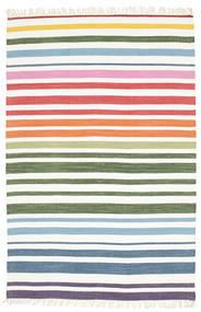 Rainbow Stripe - White Dywan 140X200 Nowoczesny Tkany Ręcznie Biały/Creme/Beżowy (Bawełna, Indie)