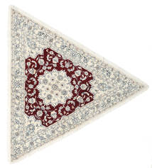 Nain 9La Dywan 250X250 Orientalny Tkany Ręcznie Beżowy/Jasnoszary Duży (Wełna/Jedwab, Persja/Iran)