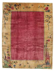 Chińskie Antyk: Art Deco 1920 Dywan 275X360 Orientalny Tkany Ręcznie Jasnobrązowy/Czerwony/Ciemnoczerwony Duży (Wełna, Chiny)