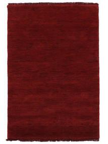Handloom Fringes - Ciemnoczerwony Dywan 200X300 Nowoczesny Czerwony (Wełna, Indie)
