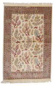 Kom Jedwab: Kom Motavasei Dywan 102X155 Orientalny Tkany Ręcznie Beżowy/Brązowy (Jedwab, Persja/Iran)