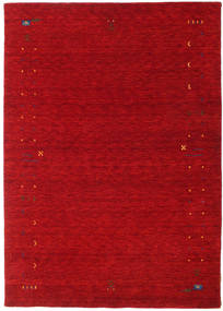 Gabbeh Loom Frame - Czerwony Dywan 160X230 Nowoczesny Czerwony/Ciemnoczerwony (Wełna, Indie)