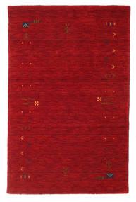 Gabbeh Loom Frame - Czerwony Dywan 100X160 Nowoczesny Czerwony/Ciemnoczerwony (Wełna, Indie)