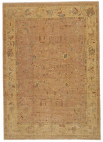 Usak Dywan 277X392 Orientalny Tkany Ręcznie Jasnobrązowy/Ciemnobeżowy Duży (Wełna, Turcja)