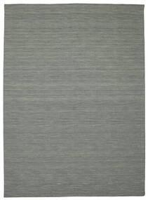 Kilim Loom - Ciemnoszary Dywan 250X350 Nowoczesny Tkany Ręcznie Jasnoszary/Ciemnozielony Duży (Wełna, Indie)