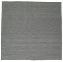 Kilim Loom - Ciemnoszary Dywan 300X300 Nowoczesny Tkany Ręcznie Kwadratowy Ciemnozielony/Jasnoszary Duży (Wełna, Indie)