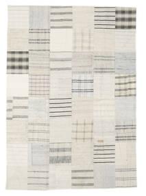 Kilim Patchwork Dywan 171X240 Nowoczesny Tkany Ręcznie Beżowy/Biały/Creme (Wełna, Turcja)