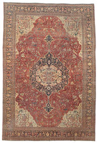 Farahan Dywan 368X550 Orientalny Tkany Ręcznie Ciemnoczerwony/Brązowy Duży (Wełna, Persja/Iran)