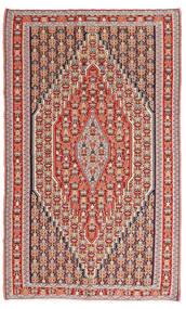 Kilim Senneh Dywan 150X245 Orientalny Tkany Ręcznie Brązowy/Rdzawy/Czerwony (Wełna, Persja/Iran)