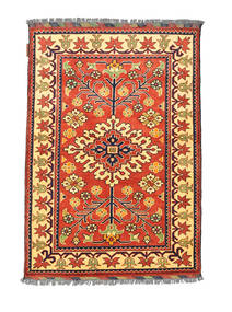 Afgan Kargahi Dywan 84X122 Orientalny Tkany Ręcznie Czerwony/Ciemnobeżowy (Wełna, Afganistan)
