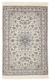 Nain 6La Dywan 103X153 Orientalny Tkany Ręcznie Jasnoszary/Beżowy/Biały/Creme (Wełna/Jedwab, Persja/Iran)