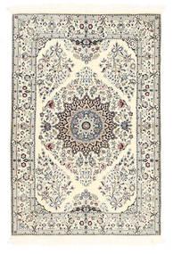 Nain 6La Dywan 100X150 Orientalny Tkany Ręcznie Beżowy/Jasnoszary (Wełna/Jedwab, Persja/Iran)