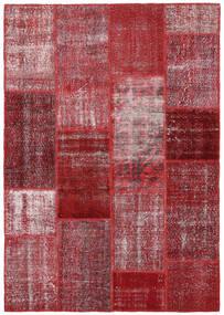 Patchwork Dywan 164X234 Nowoczesny Tkany Ręcznie Ciemnoczerwony/Fioletowy (Wełna, Turcja)