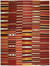 Kilim Patchwork Dywan 355X444 Nowoczesny Tkany Ręcznie Ciemnoczerwony/Czerwony Duży (Wełna, Turcja)