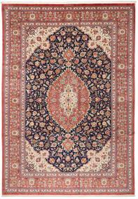 Kom Jedwab Dywan 240X348 Orientalny Tkany Ręcznie Brązowy/Beżowy (Jedwab, Persja/Iran)