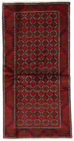 Beludż Dywan 98X197 Orientalny Tkany Ręcznie Ciemnoczerwony (Wełna, Persja/Iran)