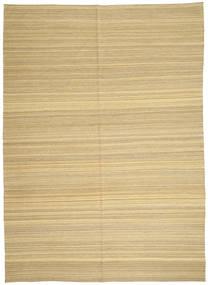 Kilim Nowoczesne Dywan 206X287 Nowoczesny Tkany Ręcznie Ciemnobeżowy/Beżowy (Wełna, Afganistan)