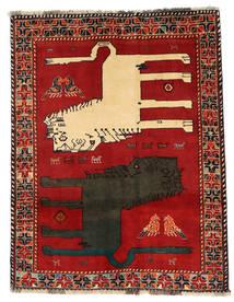 Kaszkaj Obrazkowy Dywan 133X172 Orientalny Tkany Ręcznie Rdzawy/Czerwony/Ciemnoszary (Wełna, Persja/Iran)