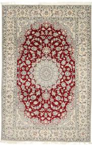 Nain 9La Dywan 202X310 Orientalny Tkany Ręcznie Jasnoszary/Beżowy (Wełna/Jedwab, Persja/Iran)