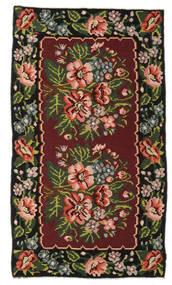 Kilim Rose Moldavia Dywan 152X270 Orientalny Tkany Ręcznie Ciemnoczerwony/Ciemnobrązowy (Wełna, Mołdawia)