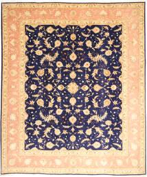 Tebriz 50 Raj Z Dodatkiem Jedwabiu Dywan 252X300 Orientalny Tkany Ręcznie Ciemnobeżowy/Ciemnofioletowy Duży (Wełna/Jedwab, Persja/Iran)