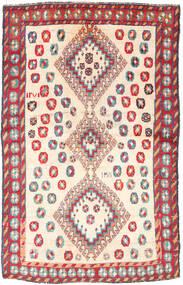 Kaszkaj Dywan 120X188 Orientalny Tkany Ręcznie Beżowy/Jasnoszary (Wełna, Persja/Iran)