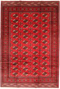 Turkmeński Dywan 201X293 Orientalny Tkany Ręcznie Rdzawy/Czerwony/Ciemnoczerwony/Czerwony (Wełna, Persja/Iran)