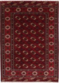 Turkmeński Dywan 208X287 Orientalny Tkany Ręcznie Ciemnoczerwony/Ciemnobrązowy (Wełna, Persja/Iran)